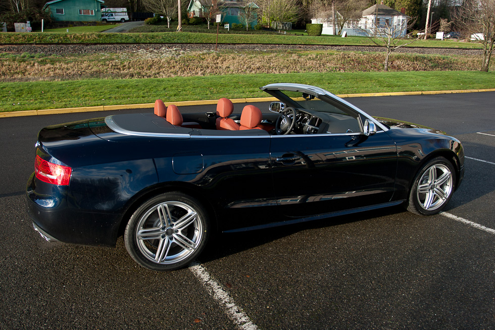 Deep Sea Blue and Tuscan Brown 2011 Audi S5 Cabriolet