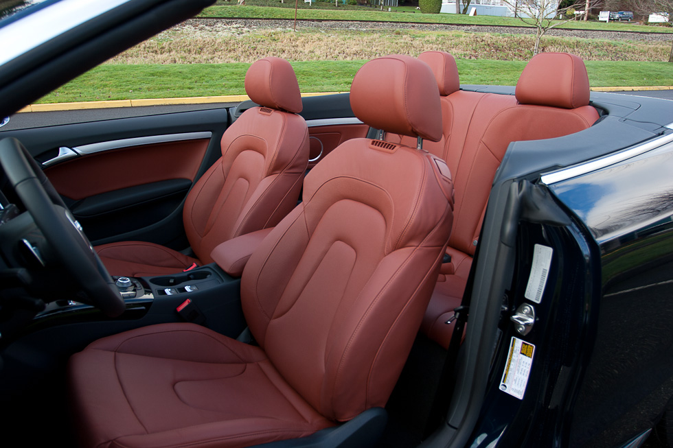 2011 Audi S5 Cabriolet Tuscan Brown Comfort Package seats